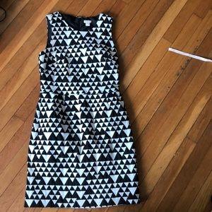 J.Crew triangle geometric mod cotton shift dress 6